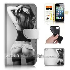 ( For iPhone 5 / 5S ) Wallet Flip Case Cover AJ40141 Sex Girl