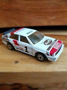 Original MATCHBOX  AUDI QUATTRO rally car pirelli duckhams Audi sport