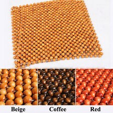 45*45CM Summer Car Seat Cover Wooden Beads Massage Pad Chair Breathable Cushion