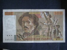 FRANCE 1968-81 ISSUE - 100 FRANCS - DELACROIX - DATED 1981, P154b - VF