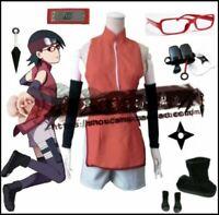 Boruto Naruto Uchiha Sarada Cosplay Costume