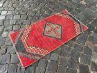 Small rug, handmade rug, Turkish bohemian rug, Kitchen rug | 1,7 x 3,4 ft