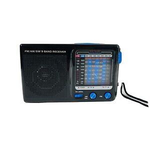 FM/AM/SW 9 Band Handheld Receiver Black Portable - Brand New