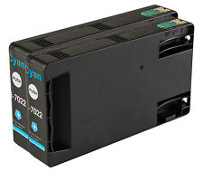 2 Cyan T7022 non-OEM Ink Cartridge For Epson Pro WP-4545DTWF WP-4595DNF
