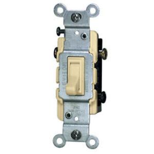 6-PK Leviton Quickwire IVORY 3-Way Toggle Wall Light Switch 15A 120V 1453-2I NEW