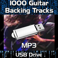 1000 MP3 ROCK GUITAR BACKING TRACKS COLLECTION ON USB
