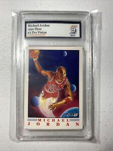1991 Fleer Michael Jordan Pro Vision #2 Grade 9 Mint SEE VIDEO!!!
