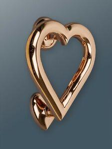 Brass Bee Door Knocker - Rose Gold Finish - Solid Brass Heart Door Knocker