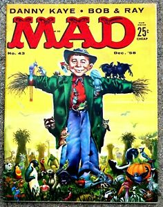 MAD Magazine #43 Dec 1958! FINE+/VERY FINE! 7.0 .99 Start! SUPER SHARP & TIGHT!