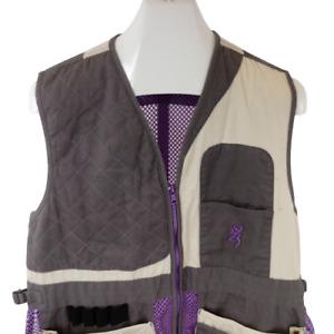 Browning Men Large Trap Hunting Shooting Vest Purple Mesh 01514