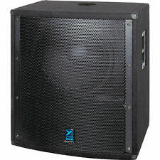 "YORKVILLE ELITE LS801P 2500w Peak Active Large 18"" Cast Frame 45Hz Sub-Woofer"