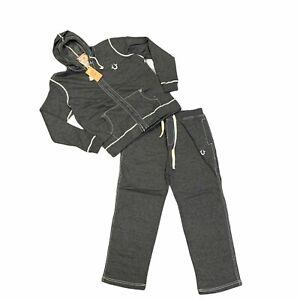 True Religion Track Suit Men's Size XL Gray Full Zip Hoodie & Pants Matching Set