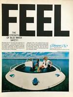 1968 Larson Industries Little Falls MN Print Ad Glasspar '69 Blue Water Boats