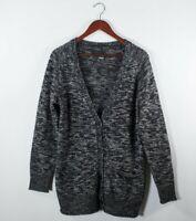 Aritzia Wilfred Free Womens Medium Grey Black Cardigan Sweater  Boyfriend V-Neck