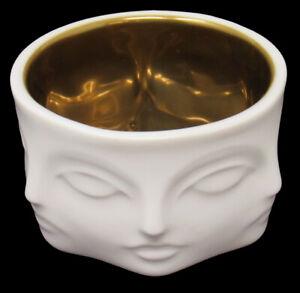 NEW Jonathan Adler Dora Maar Muse Votive Candle Holder Porcelain + Gold Bowl Cup