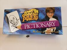 New Austin Powers Pictionary Game USAopoly 2002 Board Game