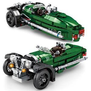 Morgan 3 Wheeler Sports Car Brick Model - 487 pieces, 1:11 Scale