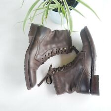 n.d.c made by hand Lace-up Leather Ankle Boots Sz 38 (7.5) Womens Shoes