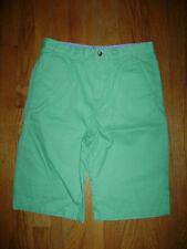 NWT LACOSTE BOYS DRESSY SHORTS size 16 GREEN 100% COTTON