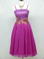 Cherlone Purple Prom Ball Evening Bridesmaid Wedding Formal Gown Dress 12