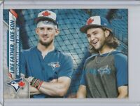 2020 TOPPS SERIES 1 LIKE FATHER LIKE SON BO BICHETTE CAVAN BIGGIO #61 BLUE JAYS