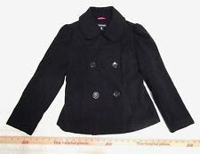 George Girls Black Peacoat, Double Breasted, Fully Lined