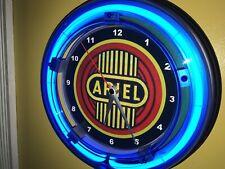 Ariel Motorcycle Garage Man Cave Advertising Blue Neon Wall Clock Sign