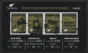 NEW ZEALAND 2021 TOKYO PARALYMPICS MINIATURE SHEET UNMOUNTED MINT, MNH