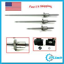 ZYLtech Precision (TRUE C7) 16mm Ball Screw 1605 w/ BF/BK12 End Support - 300mm