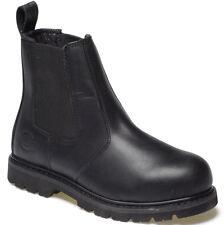 Dickies Steel Toe Cap Sicurezza Dealer Stivali Neri UK 12 EU 47 in Pelle Fd22200