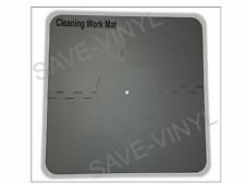 """Record Cleaning Station Mat for LP 12"""" Vinyl Album spindle securely holds r"""