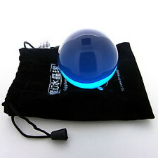Clear Translucent Blue Acrylic contact Juggling ball 50mm 85g + Protect Pouch