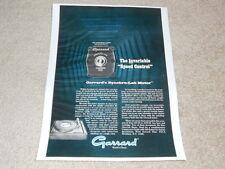 Garrard Synchro Motor Turntable Ad, 1968, SL-95,75,65,55, Article, 1 pg #2