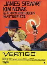 Vertigo Hitchcock Vintage Movie Poster Canvas Print