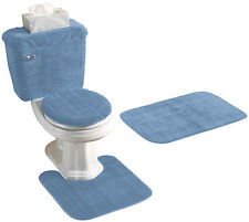 5 PIECE BATH RUG, CONTOUR, LID, TANK LID and TANK COVER SET