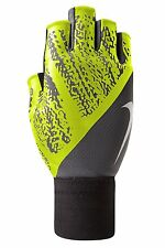 Nike Men's Cool Gray/Volt/White Swoosh Dynamic Training Gloves Sz S