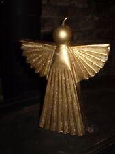 Lujo Vela Decorativa danés Navidad Oro Metálico, quema lenta