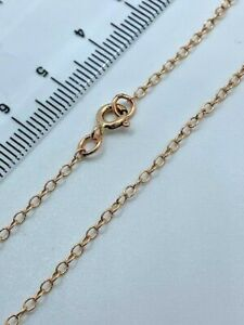 """9ct Rose Red Gold 2mm Round Link Belcher Chain 30"""" / 75cm Neck Chain (R1416A)"""
