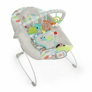 Happy Safari Bouncer with Vibrating Seat and Melodies Ages Newborn +Grey