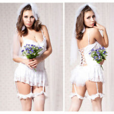 Summer Women Bride Sexy Costume Cosplay Halloween Outfit Fancy Bridal bachelor