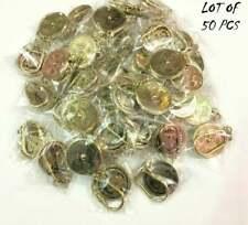 50 pcs lot Nautical  Brass Perpetual Calendar Collectible Key rings 50 year