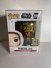 Funko Pop! 2019 Galactic Convention Exclusive Gold Chrome Princess Leia #295