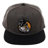 Overwatch Gray Blocked Stretch Fit Hat 889343083969  837880afaeb1