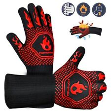 1 Pair Extreme Heat Resistant Gloves Bbq Grilling Cooking Oven Glove Mitts 1472℉