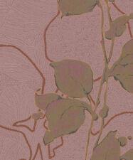 Marburg Tapete la Veneziana 3 57940 Zarcillo Hojas Gold Rose Papel Pintado
