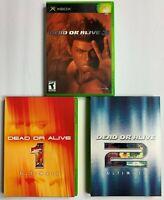 Bundle Lot of 3 Dead or Alive Games Ultimate 1 & 2 + DOA 3 CIB Complete TEST F11