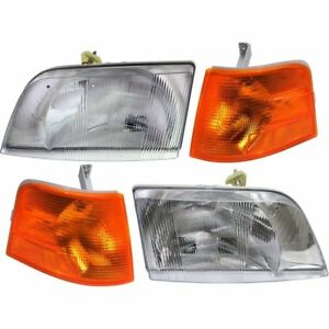 BLUE BIRD VISION SCHOOL BUS 2008 2009 2010 2011 HEADLIGHTS CORNER LIGHTS SET