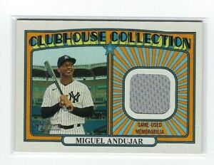 Miguel Andujar 2021 Topps Heritage Clubhouse Collection Relic #CCR-MA Yankees