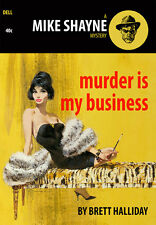 Murder is my Business Paperback Cover A1 Retro High Quality Canvas Print