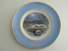 "Avon Christmas ""Dashing Through The Snow"" holiday plate Seventh Edition 1979"